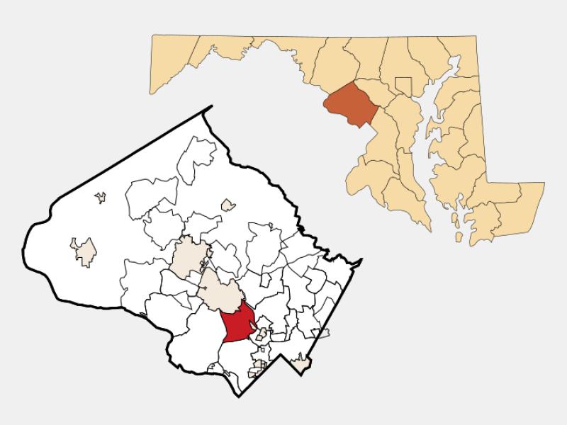 North Bethesda locator map