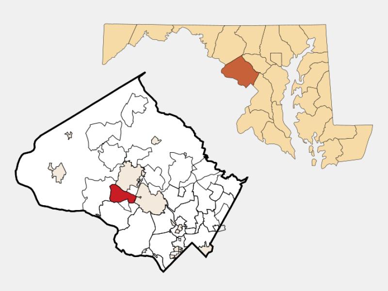 North Potomac locator map
