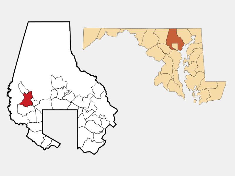 Owings Mills locator map