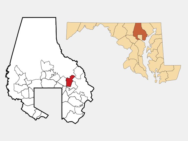 Perry Hall locator map