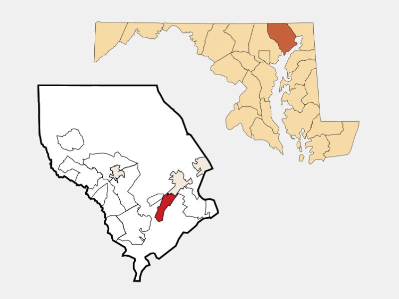 Perryman locator map