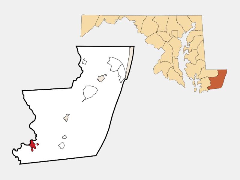 Pocomoke City locator map