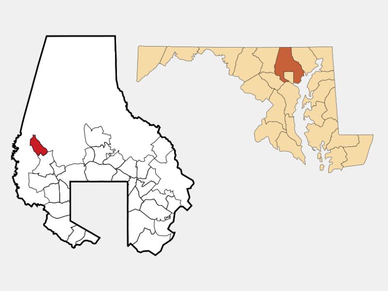 Reisterstown locator map