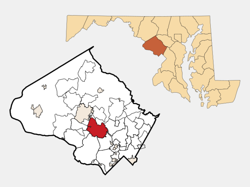 Rockville locator map
