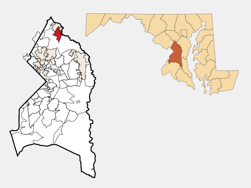 South Laurel locator map