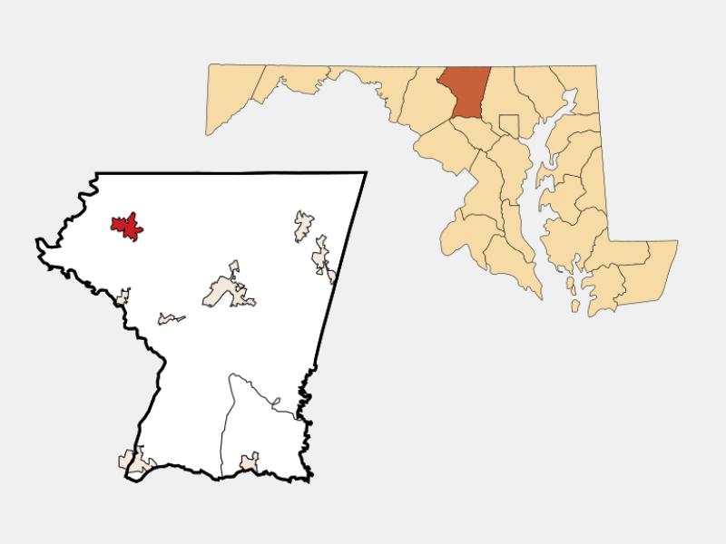 Taneytown locator map