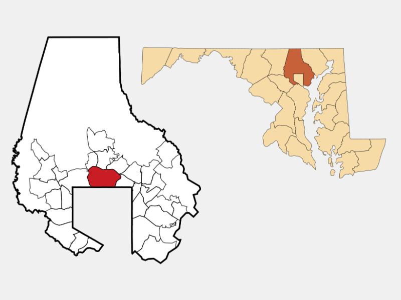 Towson locator map