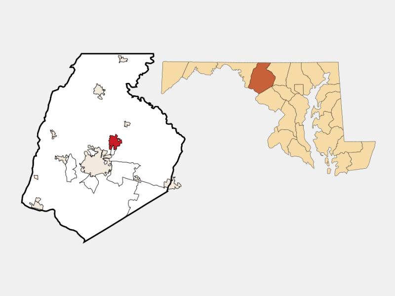 Walkersville locator map