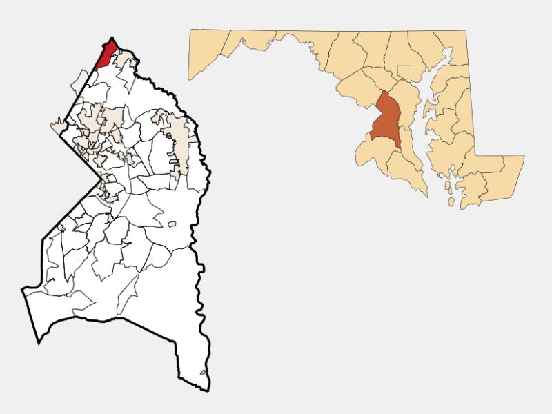 West Laurel location map