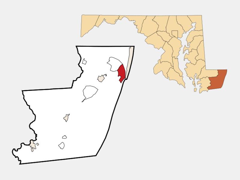 West Ocean City locator map