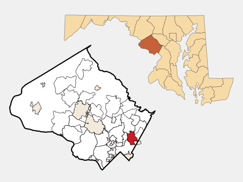 White Oak locator map