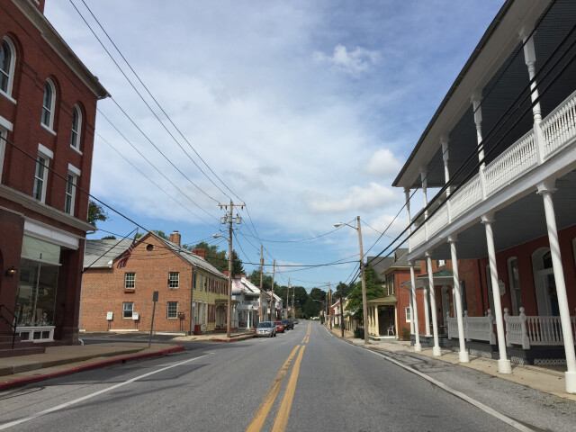 2016-09-20 14 16 38 View north along Main Street between Elizabeth Street and Dorcus Alley in Woodsboro  Frederick County  Maryland image