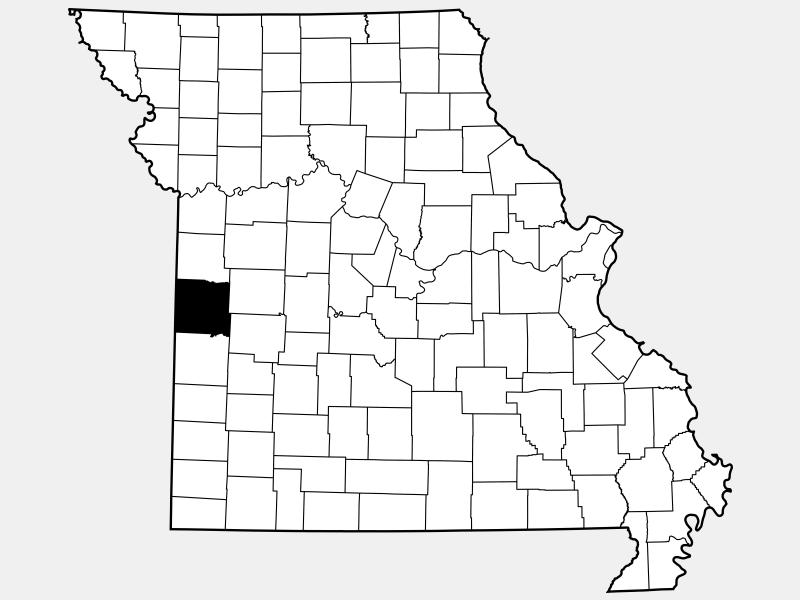 Bates County locator map