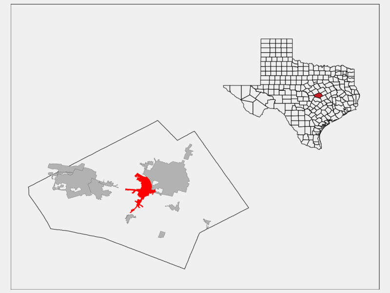 Belton locator map