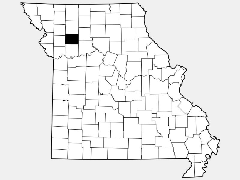 Caldwell County locator map