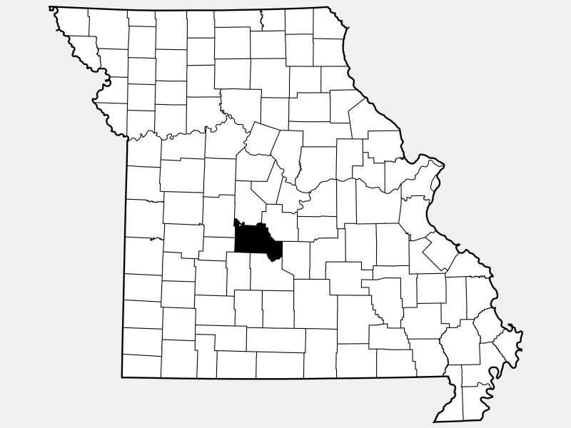Camden County locator map