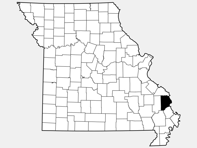 Cape Girardeau County locator map