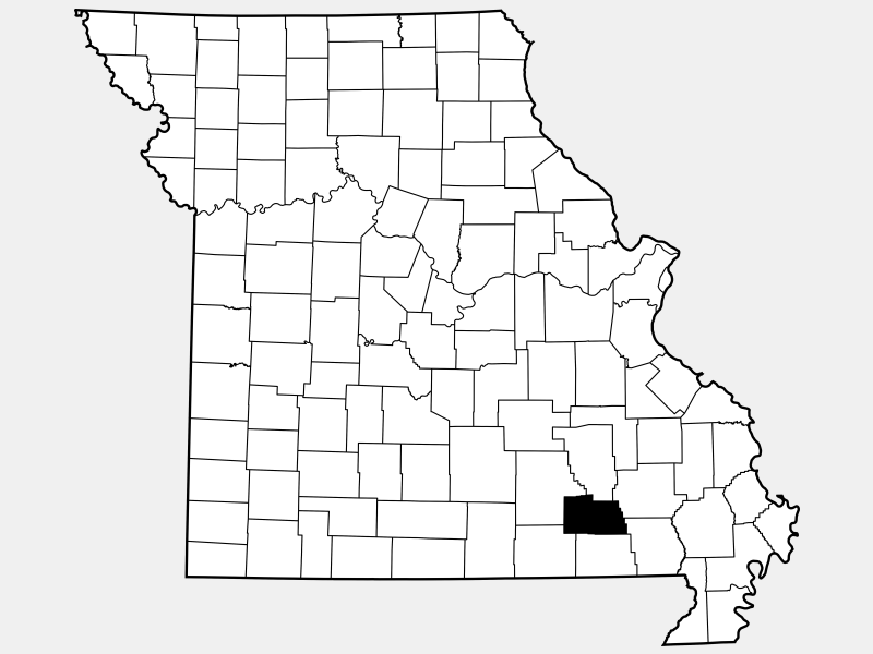 Carter County locator map