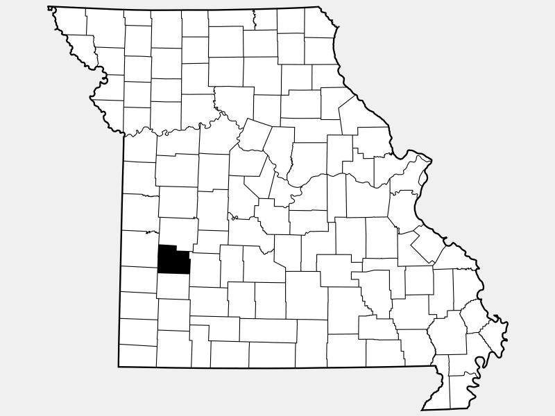 Cedar County locator map