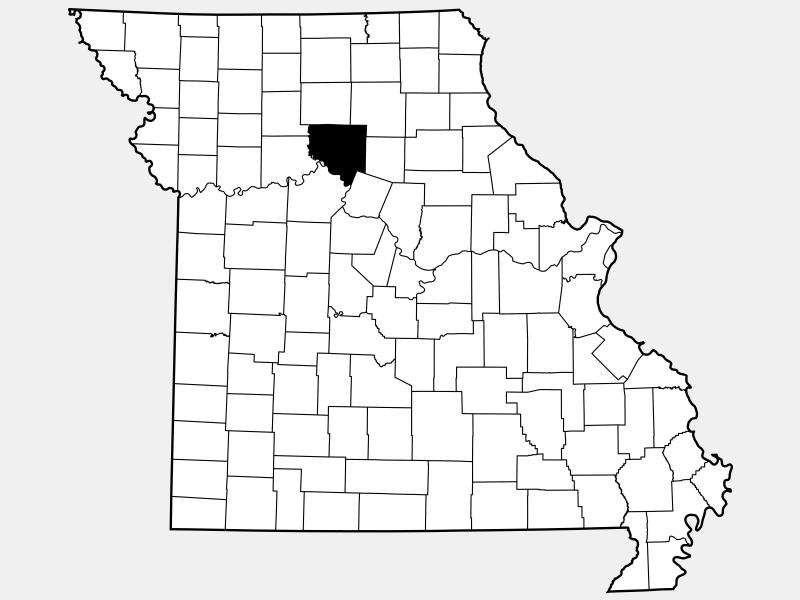 Chariton County locator map