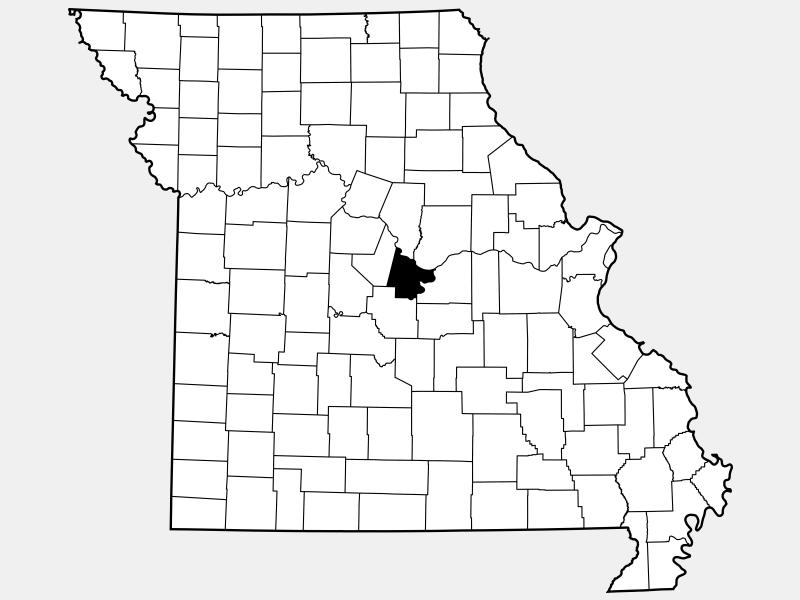 Cole County, MO locator map