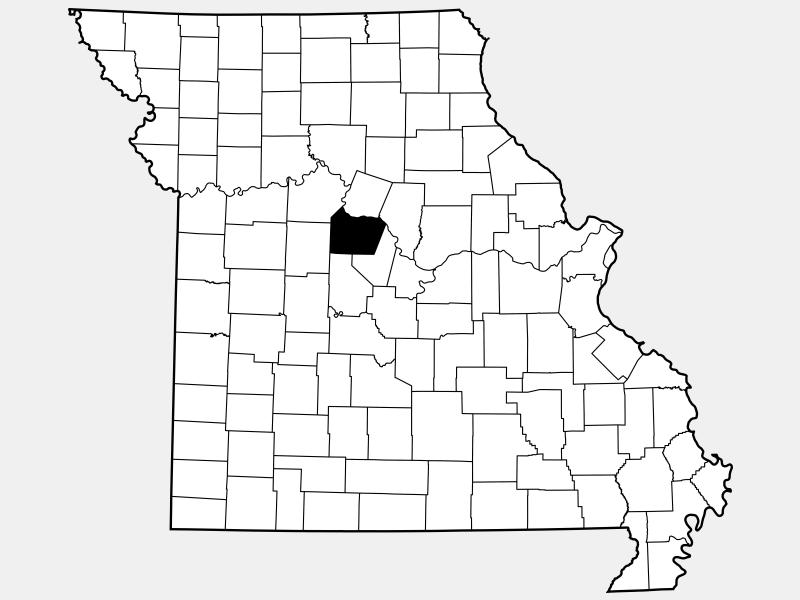 Cooper County locator map