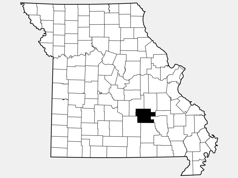 Dent County locator map
