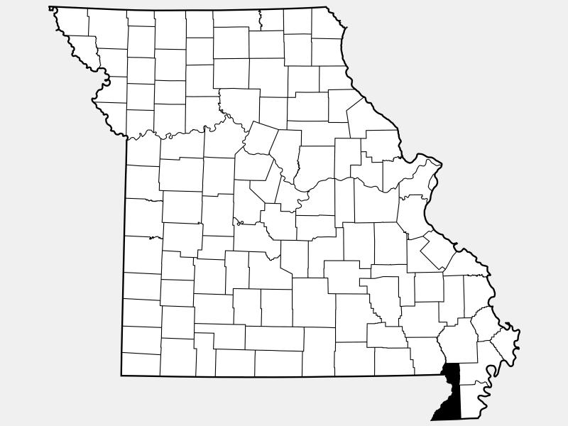 Dunklin County locator map