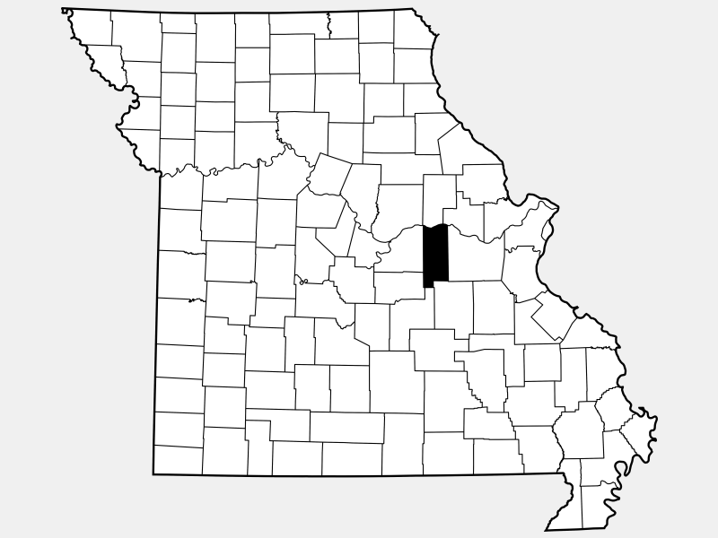 Gasconade County locator map