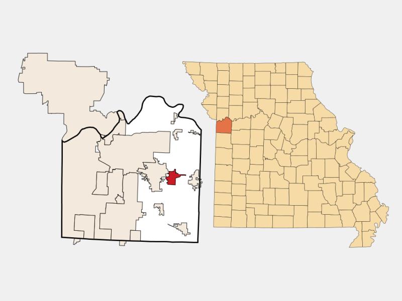 Grain Valley locator map