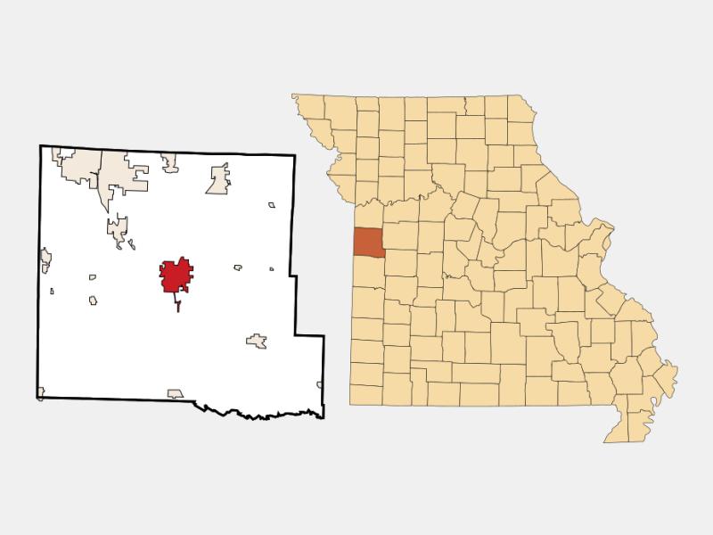 Harrisonville locator map