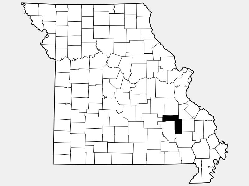 Iron County locator map