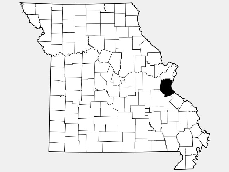Jefferson County, MO locator map