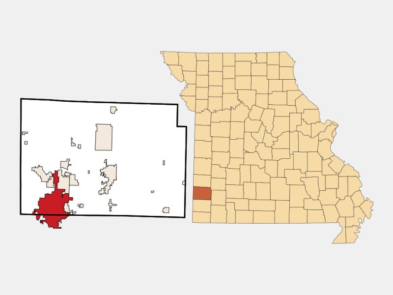 Joplin, MO locator map