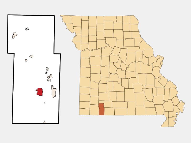 Kimberling City locator map