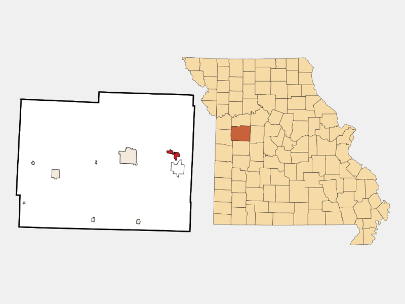 Knob Noster location map