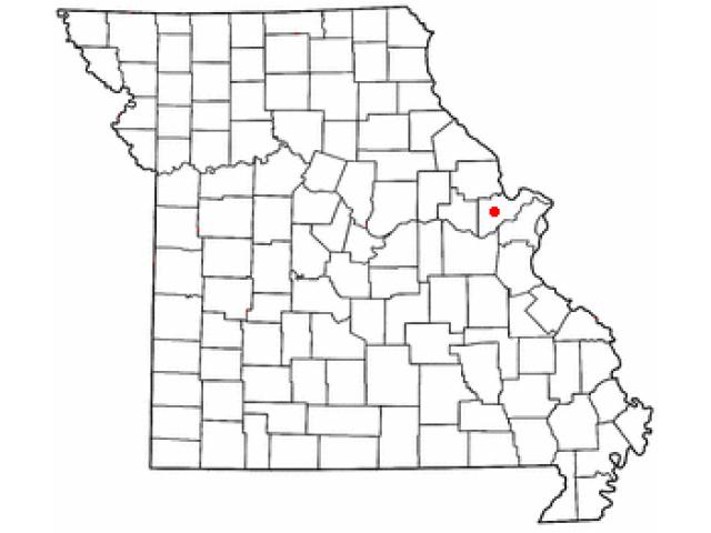 Lake Saint Louis locator map