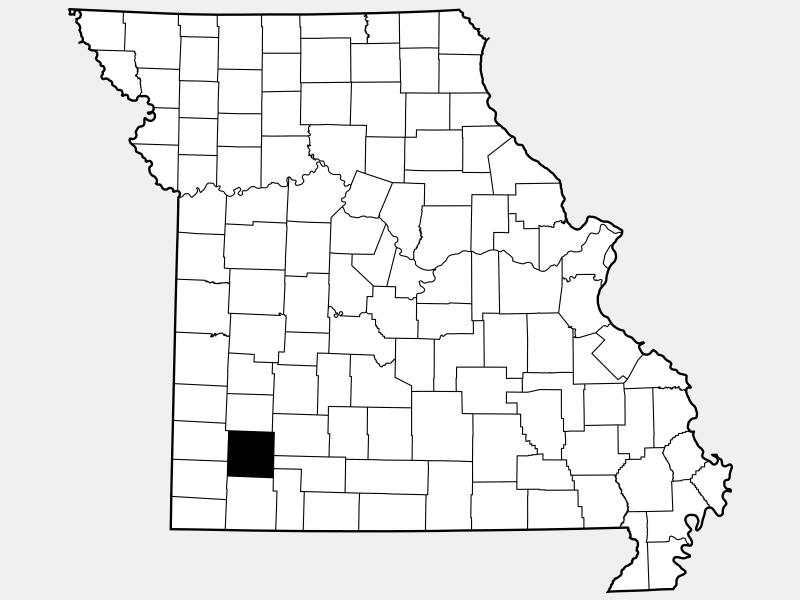 Lawrence County locator map