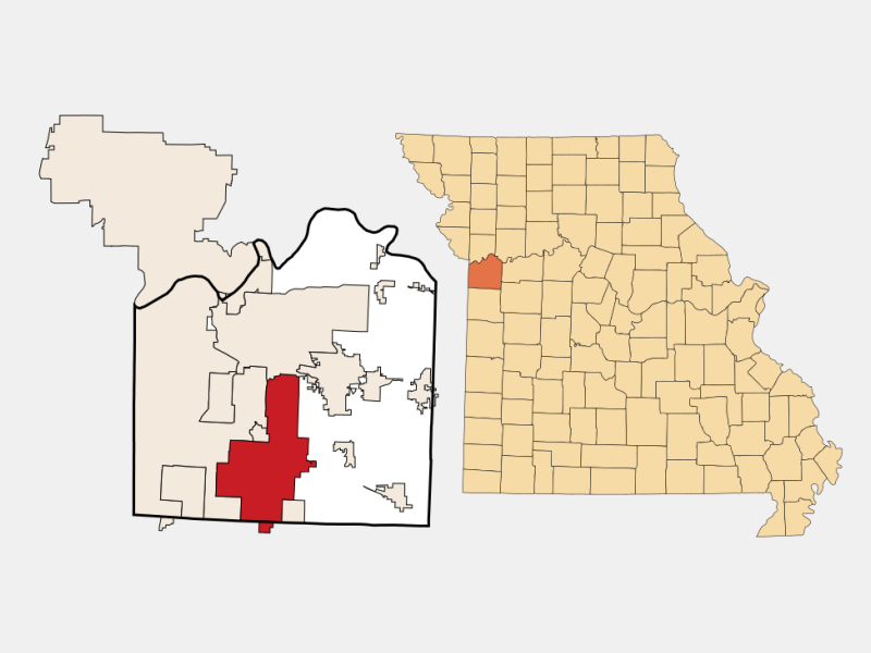 Lee's Summit, MO locator map