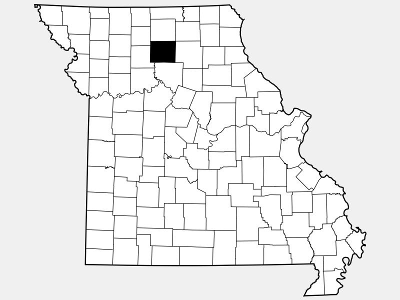 Linn County locator map
