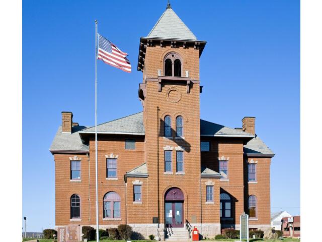 Madison County Missouri Courthouse at Fredericktown  MO USA image