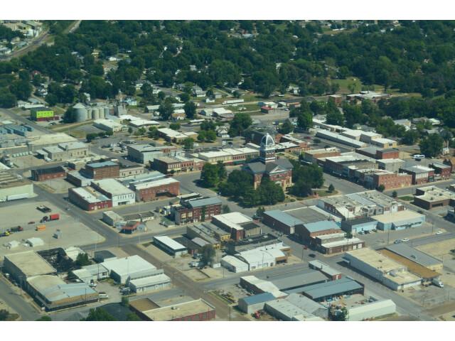 Aerial view of Marshall  Missouri 9-2-2013 image