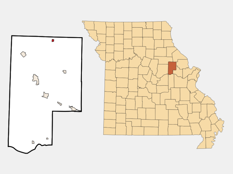 Middletown locator map