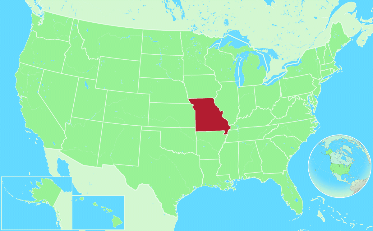 Missouri locator map