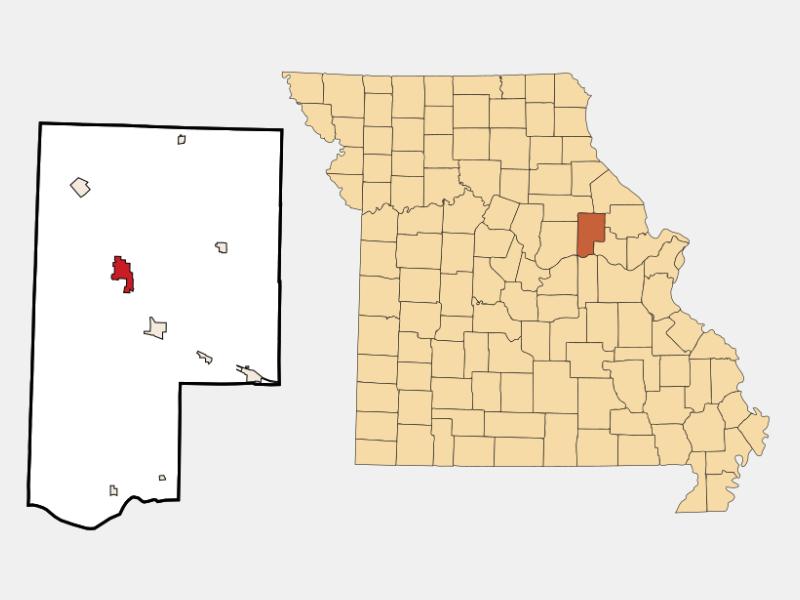 Montgomery City locator map