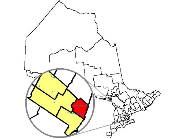 Oakville locator map