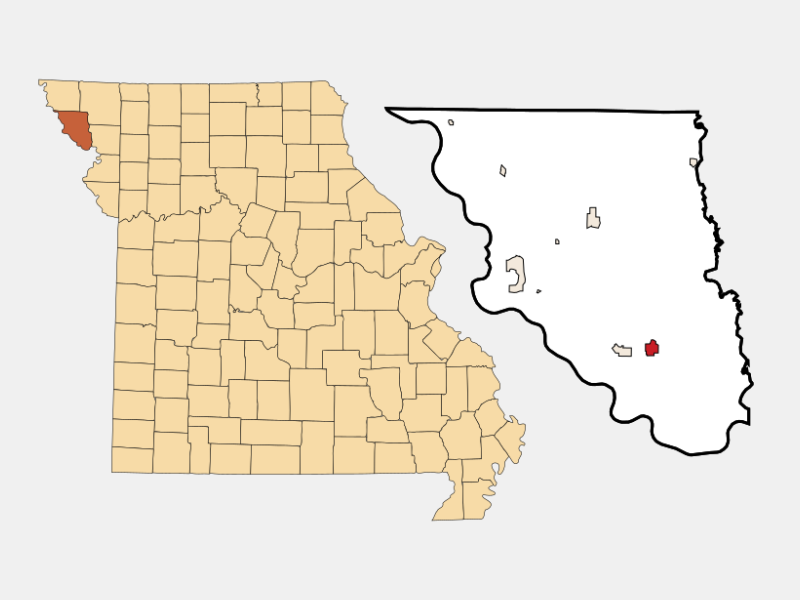 Oregon locator map