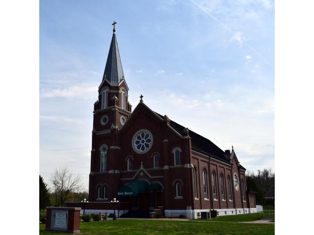 Saint Mary%27s Catholic Church 'Pierce City  Missouri' - exterior image