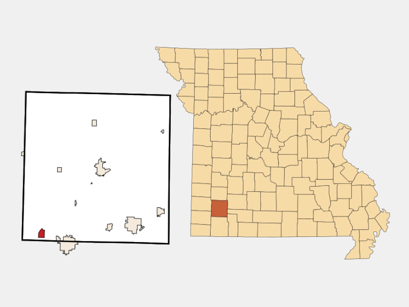 Pierce City locator map