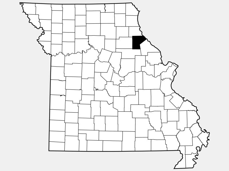 Ralls County locator map